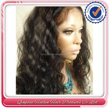 Stock Top Fashion 24 inch Body Wave Synthetic And Human Hair Mix Lace Wig