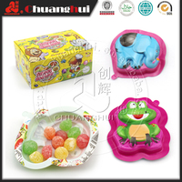Sweet and Sour Gummy Candy In Animals Cup
