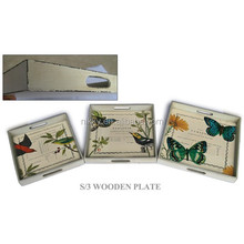 Canton Fair butterfly design square plate for handicraft