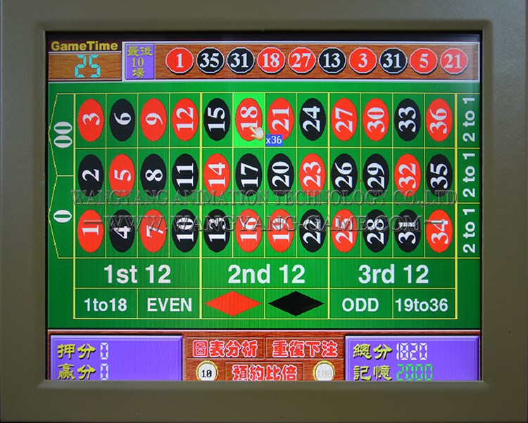 video roulette machine for sale