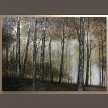 100% Handmade Forest Landscape Oil Painting