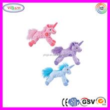 D061 Soft Velboa Sublimation Printed Stuffed Plush Unicorn Toy