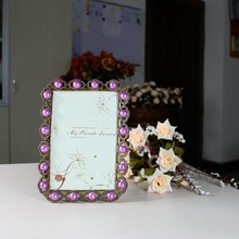 Crystal and Pearl 4x6 Photo Frame from Twos Company/HQ070091-46