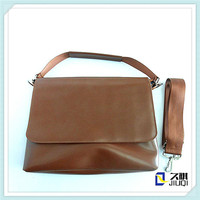 cow leather leisure customized genuine leather men messenger bag with adjustable shoulder strap