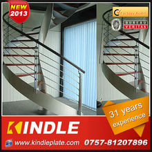 custom Spiral iron stairs from KINDLE sheet metal fabrication
