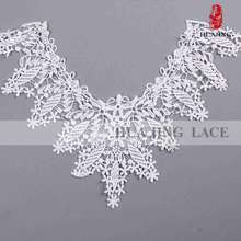 High standard garment accessories cotton thick lace fabric