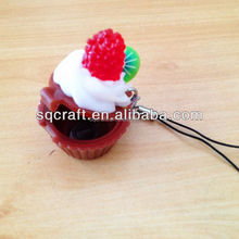 Lifelike plastic artificial fake cupcake for decoration display
