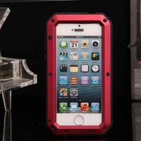 NEW! Metal Aluminum case Water/Shock/Dust Proof Cover Case For mobile phone iPhone 5/5s