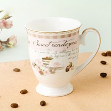 New design good price ceramic bone china mug cup for gift