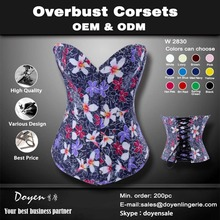 Factory Low Price High Quality Blue Floral Waist Corset For Fat Maternity Corset