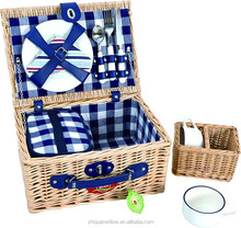 best-sale fashion style wicker picnic basket with fabric lining in China
