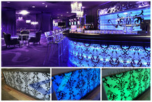 Affordable modern design Acrylic Solid Surface nightclub LED furniture Long bar counter