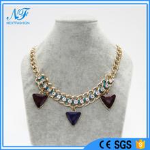 Factory design jewellery pendant bib Necklace beads Jewelry 2015 with CE certificate