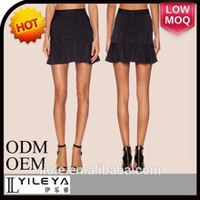 negro elegante diseñado las niñas mini falda de baile sexy