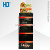 Pop Cardboard Floor Standing Display Units Pallet Display Store Rack, Convenience Store Furniture for Pets Food