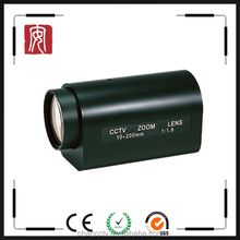 """Fuzhou products 2MP 1/2"""" c mount zoom lens 10-200mm motorized zoom and focus lens"""