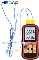 High Accuracy Multi-channel Thermocouple Thermometer With K J K T E N R type probes