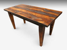 Rustic farm table with tapered legs