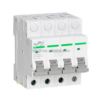 4P DC circuit breaker with TUV certificates from 1A to 63A,MCCB 4 phase Circuit Breaker