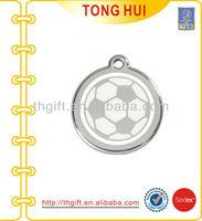 Football round metal pendant necklace jewelry