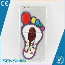 Hot sale customer design big foot girl tpu case for iphone6 Wholesale shenzhen