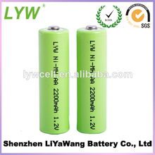 Hot Sale 2300mah Ni MH 1.2v AA Rechargeable Battery Made In China From LYW Battery