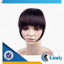 100 unprocessed competitive price remy clip in hair extension lace front bangs
