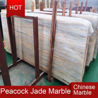New design and most popular peacock jade marble