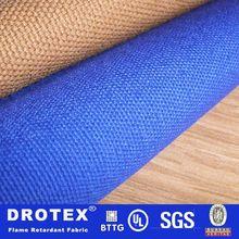 Drotex durable sarga de algodón fr tela uniforme anti- el ácido de tela para ropa de trabajo pantalones vaqueros de mezclilla