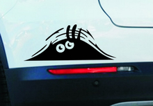 19*7cm Funny Peeking Monster Auto Car Walls Windows Sticker Graphic Vinyl Car Decals Car Stickers