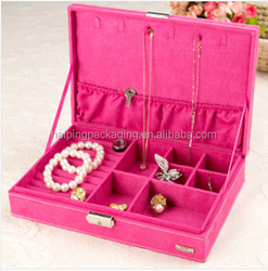 Newest Quality Luxury Custom logo fashion Jewelry Case with window /Paper Jewelry case Made In China