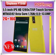 5.5 inch 2GB RAM Elephone P2000 MTK6592 Octa Core Android 4.4 Smartphone Dual SIM Camera 8MP+13MP