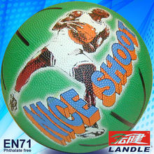 volleyball pvc pu leather rubber photo printed basketball