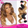 "2015 New Arrival Brazilian Virgin Hair, Top Quality 8""-32"" Body Wave Ombre Color T1B/27 Virgin Brazilian Human Hair Extension"