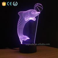 NL11 3d USB purple table top night light