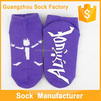 Custom Made Logo Rubber Yoga Non Slip Indoor Sock Top Quality Nice Design Cotton Sock