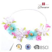 Best Design Natural Color Artificial Flower Handmade Knit Crochet Flower Headband