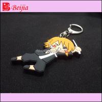 Custom 2D/3D rubber Christmas keychain/high quality silicone soft pvc keychain