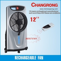 abs material battery powered mist fan with water tank