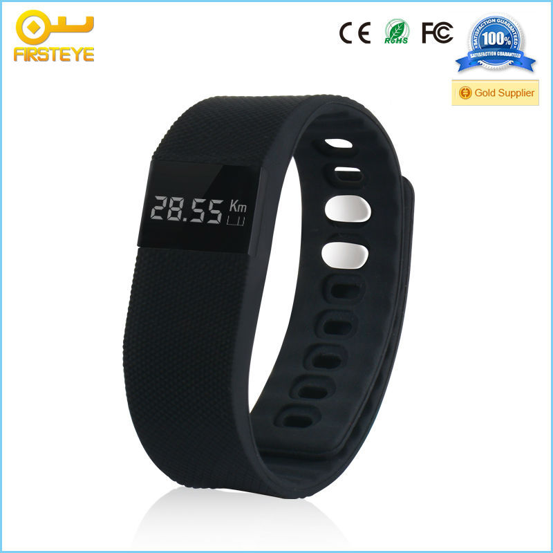 TW64 Bluetooth 4.0 smart wristband pedometer with bluetooth bracelet ...