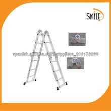 Multiusos escalera plegable de aluminio Escalera multiusos con GS