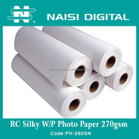 premium silk rc photo paper A4 size for pigment ink