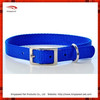 2015 Wholesale Eco-friendly Blue Nylon Webbing Dog Collar
