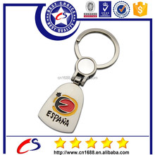 Hot selling custom logo metal keychain with keyring for cheap