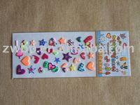 Cartoon glitter Spongy sticker