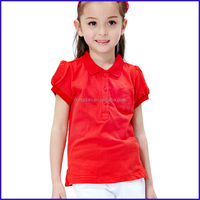 The lastest design comfortable t-shirt school dress sex school girl uniform or shirt girl and top fashion girl t shirt wholesale