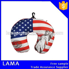 Wholesale Flag Printing Travel U Shape Microbeads Neck Pillow