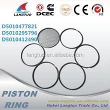 Heavy truck D5010477821 piston ring 62mm daf piston ring