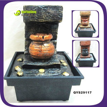 Polyresin cheap newest mini spring fountain craft for gift