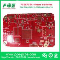 FR4 immersion gold red soldermask pcb board for scanner